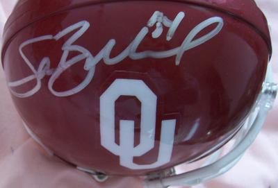 Sam Bradford autographed Oklahoma Sooners mini helmet