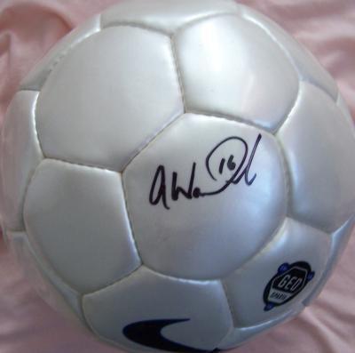 Abby Wambach autographed Nike size 5 soccer ball