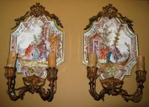 Antique 'Lille 1767' gilt-bronze pair