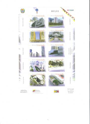 STAMPS 2006 SIMN BOLIVAR CENTER