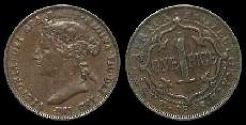 1 pice; Year: 1897-1899; (km 1)