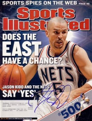 Jason Kidd autographed New Jersey Nets 2003 Sports Illustrated