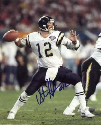 Stan Humphries autographed 8x10 San Diego Chargers photo