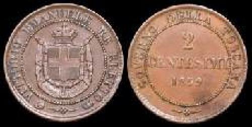 2 centesimi 1859 (km c#82)