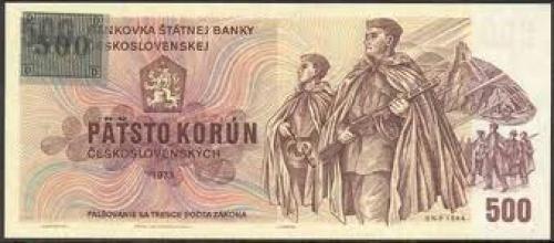 Banknotes; CZECH REPUBLIC; 500 Korun
