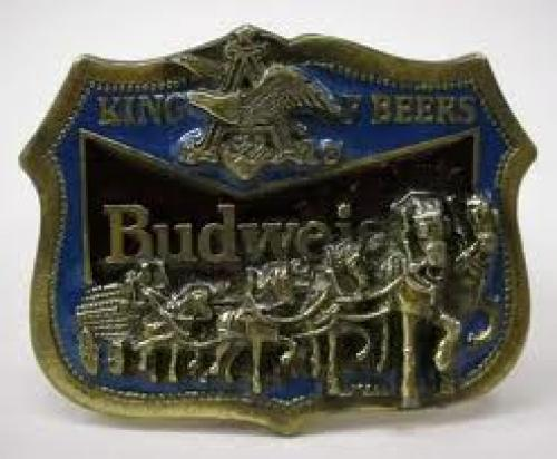 BUDWEISER KING OF BEERS belt buckle. circa 1984