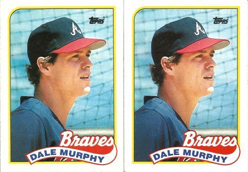 (2) 1989 Topps #210 ~ Dale Murphy * FREE SHIPPING *