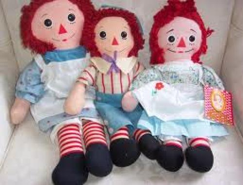 Dolls; Early 1970's Knickerbocker Raggedy Ann Dolls