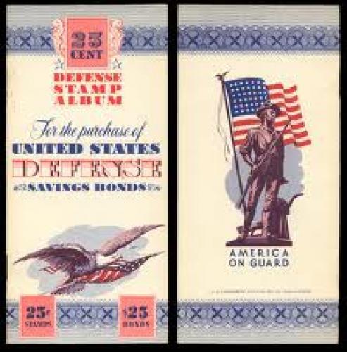 Stamps; USA,Defense Savings Bond Stamp Album, 10 cent, no date