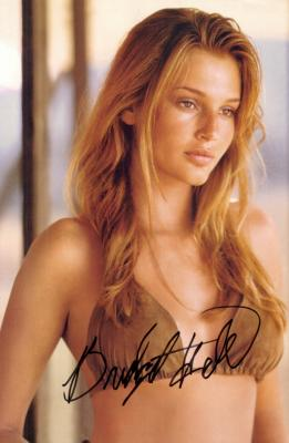 Bridget Hall autographed sexy full page magazine photo