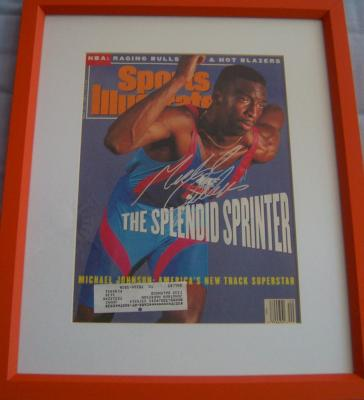 Michael Johnson autographed 1991 Sports Illustrated cover matted &amp; framed
