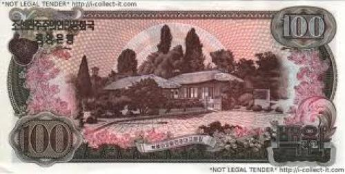 Banknotes;  North Korea; 100 Won; Year: 1978