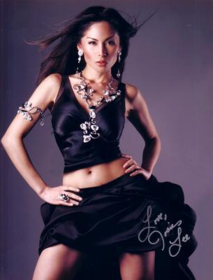 Josie Lee autographed sexy 8x10 black dress photo