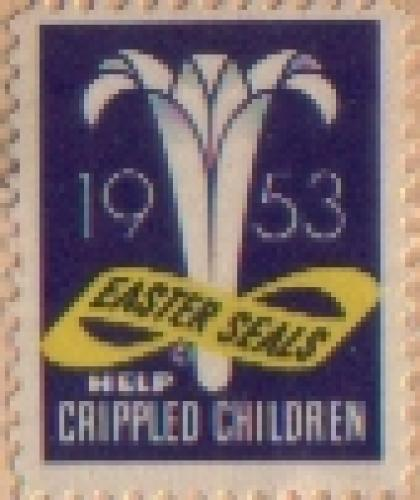 1953 Easter Seal Crippled Children Stamps