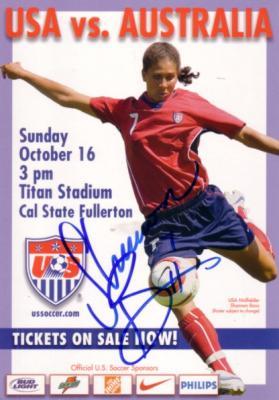 Shannon Boxx autographed US Soccer postcard