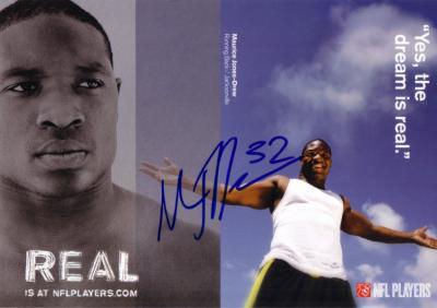 Maurice Jones-Drew autographed NFL Players postcard