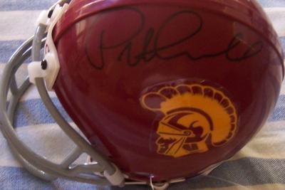 Pete Carroll autographed USC Trojans mini helmet