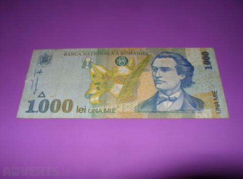 Romania 1000 Lei-1998