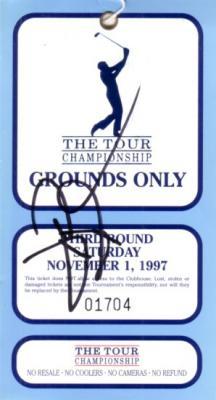 David Duval autographed 1997 PGA Tour Championship ticket