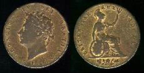Half Penny 1825-1827 (km 692)