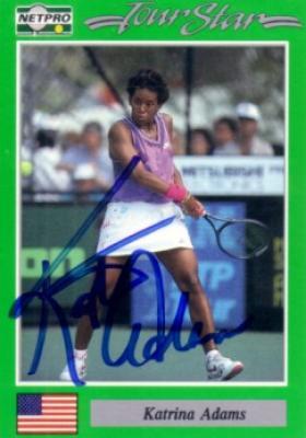 Katrina Adams autographed 1991 Netpro tennis card