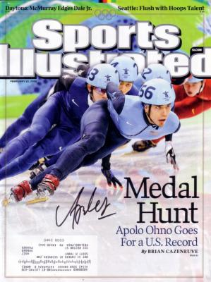Apolo Anton Ohno autographed 2010 Olympics Sports Illustrated