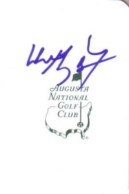 Wayne Gretzky autographed Augusta National Masters scorecard