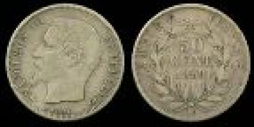50 centimes; Year: 1853-1863; (km 794)