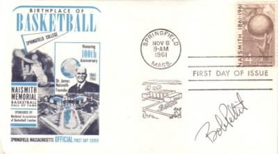 Bob Pettit autographed Basketball Hall of Fame First Day Cover