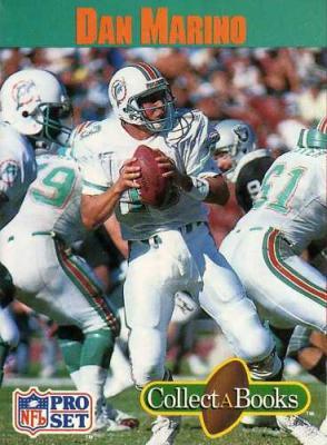 Dan Marino Miami Dolphins 1990 Pro Set Collect A Book card