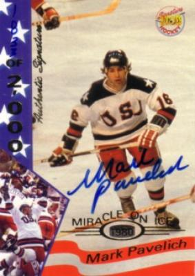 Mark Pavelich certified autograph 1980 Miracle on Ice Signature Rookies card