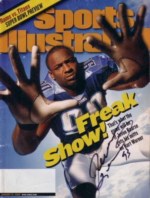 Jevon Kearse autographed Tennessee Titans 2000 Sports Illustrated
