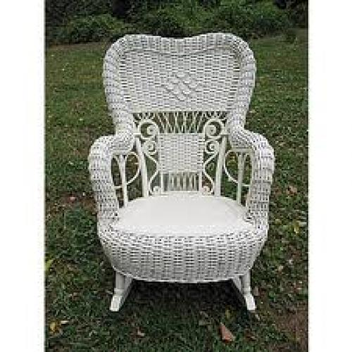 Antique Fancy Victorian Child's Wicker Rocker
