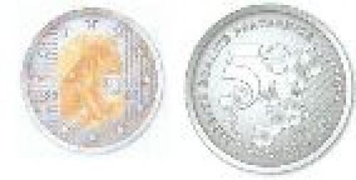 5 euros; Year: 2002; Merci le Franc