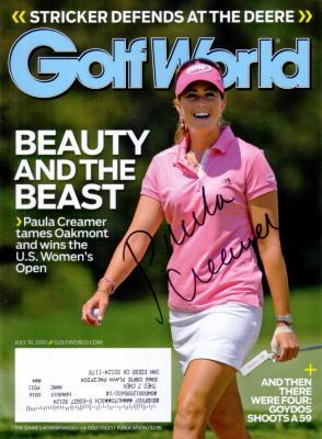 Paula Creamer autographed 2010 U.S. Women's Open Golf World magazine