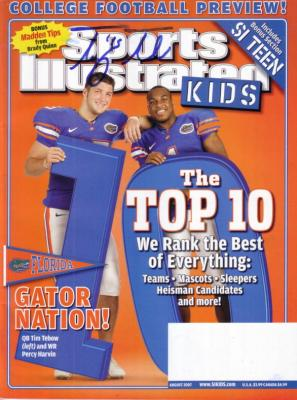 Tim Tebow autographed Florida Gators 2007 Sports Illustrated for Kids magazine