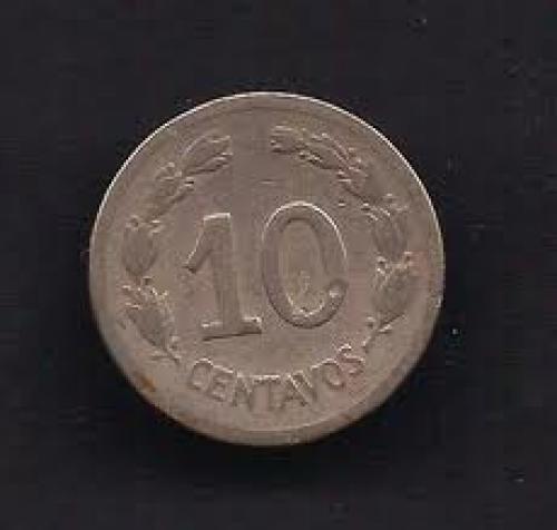 Coins;  Ecuador 10 Centavos 1946 Coin KM # 76b