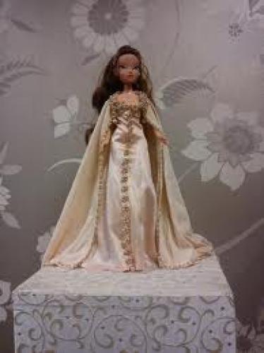 Dolls; Pale pink silk jersey vintage doll's 1930s dress