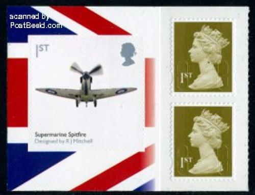 Classic design Spitfire booklet pane