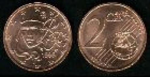 2 cents; Year: 1999-2007; (km 1283); Acero cubierto de cobre