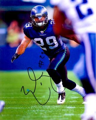 Earl Thomas autographed Seattle Seahawks 8x10 photo