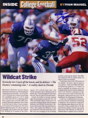 Tim Couch autographed Kentucky Sports Illustrated photo