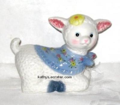 K's Collection Ceramic Pastel Lamb Animal Figurine