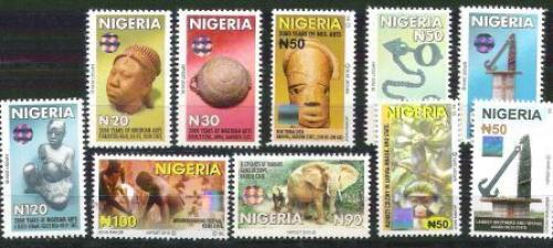 Nigerian Definitive/Hologram Stamps10v.