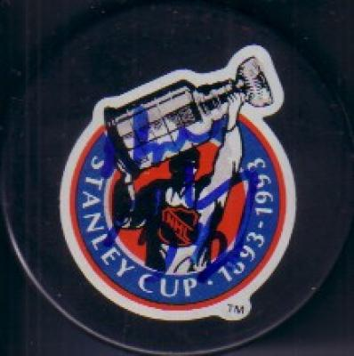 Wayne Gretzky autographed 1993 Stanley Cup 100th Anniversary puck