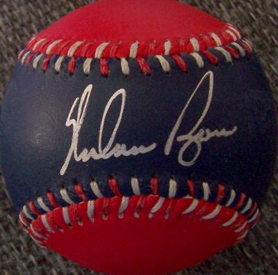 Nolan Ryan autographed Texas Rangers baseball