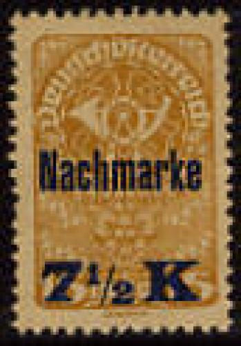 Postage due, overprint 1v; Year Issue: 1921