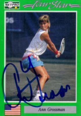 Ann Grossman autographed 1991 Netpro tennis card