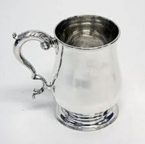 Antique Silver Cup; Victorian; Half Pint