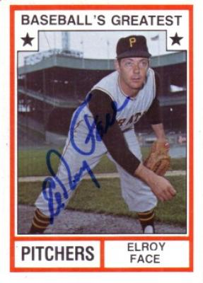 Elroy Face autographed Pittsburgh Pirates Baseball's Greatest Pitchers card